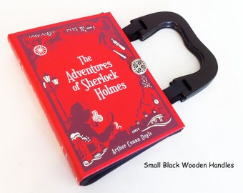 Adventures of Sherlock Holmes Book Purse - The Hound of the Baskervilles Book Clutch - BBC Sherlock Gift - YA Book Purse