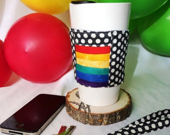 Lined coffee cup cozy/sleeve