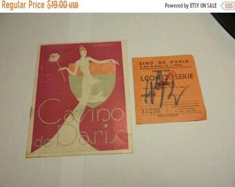Spring Sale Vintage 1945 Casino de Paris Program and Ticket