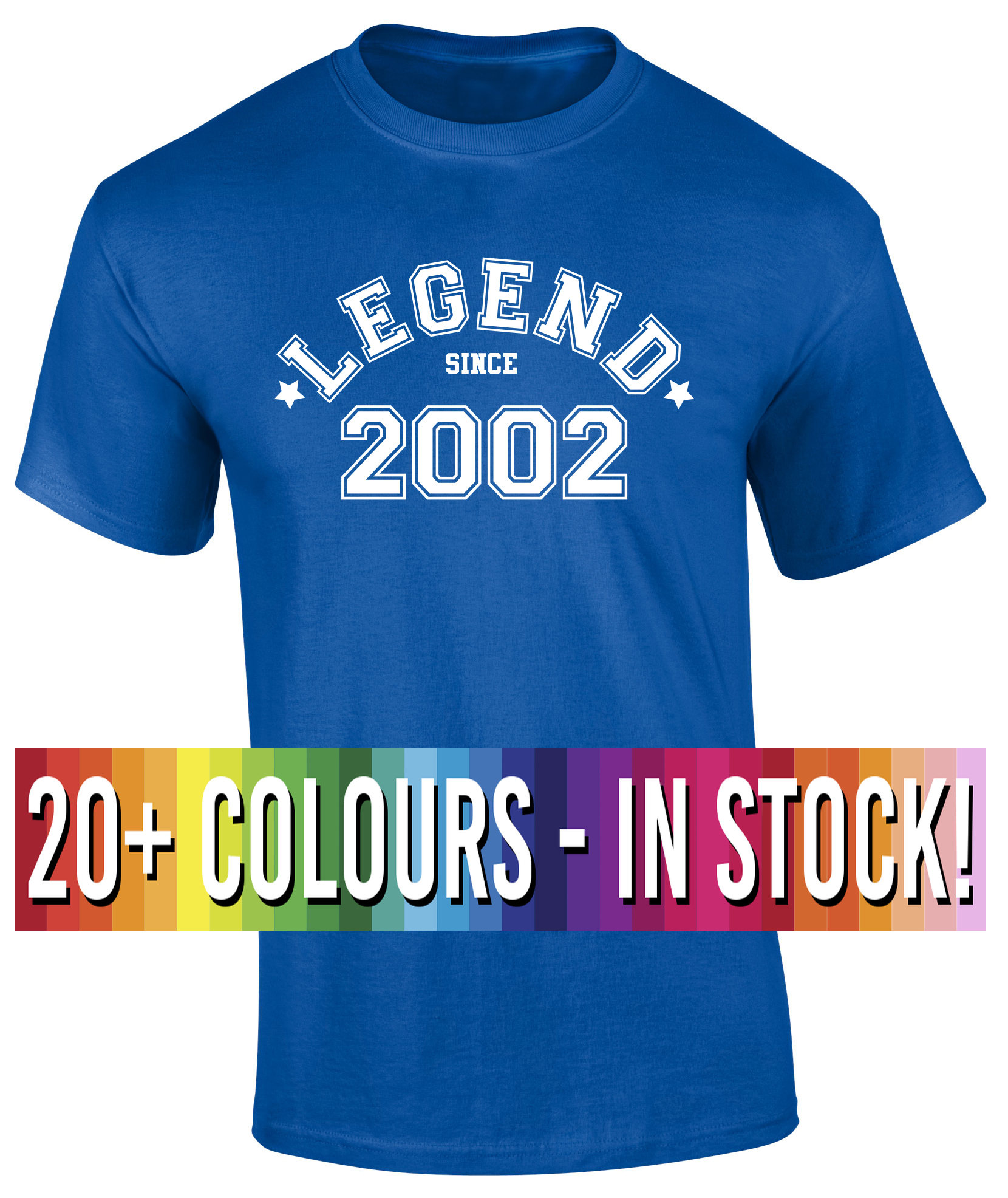 16th Birthday T Shirt Gift Legend Since 2002 Funny