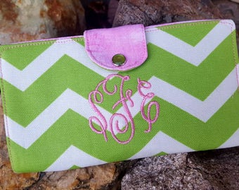 Personalized Chevron Checkbook Cover, Monogrammed Checkbook wallet, Checkbook with Name