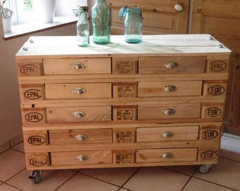 Industrial pallet 10 Dresser drawers