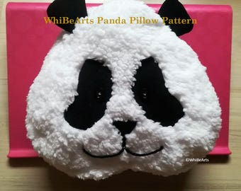PDF Pattern: Panda Pillow, instructions included