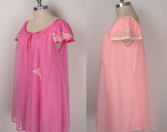 1960s babydoll nightgown // two color options