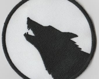 Full moon wolf howl embroidered patch magic occult magic werewolf luna llena lobo Lycanthropy