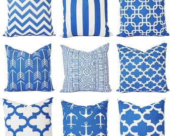 Royal Blue Pillow Covers - Blue Throw Pillows - Throw Pillow Covers - Cobalt Decorative Pillows - Royal Blue Pillows - Accent Pillows