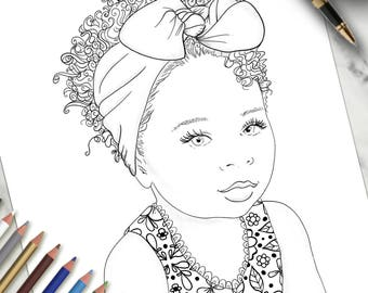 Coloriage imprimable Page petit ange
