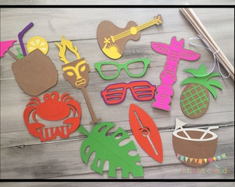 Luau Party Decorations, Luau Photo Booth Props, Hawaiian Party Decorations, Hawaiian Luau, Hawaiian Photo Props, Luau Decorations,