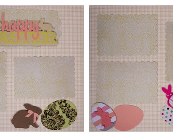 Pre-made Scrapbook Pages: Happy Easter #9