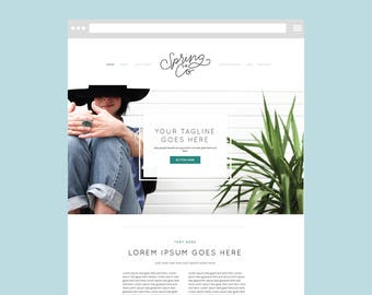 Squarespace TEMPLATE ONLY DIY website with Graphics: The Clean Freak Template