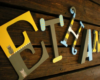 Mixed Font Letters - Painted Name Letters - Kids Name Letters