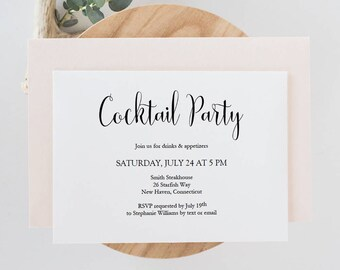 Cocktail Party Etsy - Cocktail party invitation template