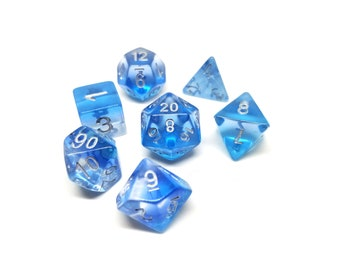DND Dice Set - Ocean blue dice - dnd gift ideas d&d dice d20 RPG dice roleplaying Role Playing Games polyhedral by Dice Envy