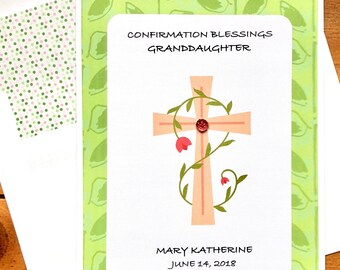 Confirmation Card For Girl-Personalized-Daughter-Granddaughter-Goddaughter-Anyone