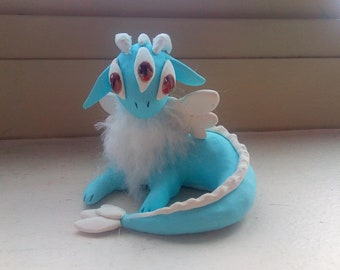 Three-Eyed Polymer Clay Dragon