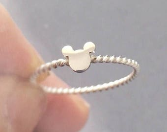Sterling Silver Mickey Mouse Ring Disney jewelry Disney Ring Mickey ring Mickey Mouse Jewellery