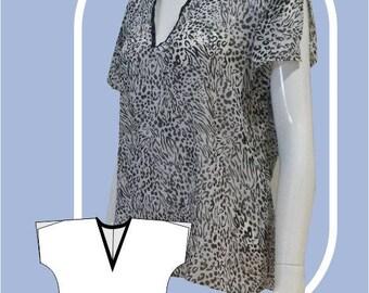 Maret Tunic Blouse Sewing Pattern