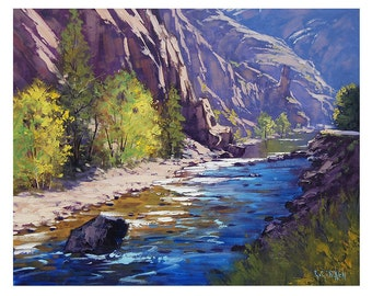 OIL PAINTING Colorado River Fine Art Impressionist by G.Gercken Award winning Artist