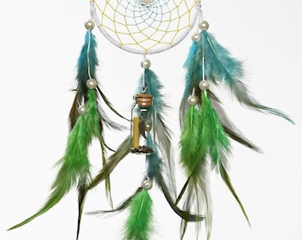 Genie in the bottle dreamcatcher - message note comes with the bottle to write a message to your loved one