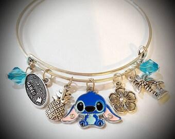 Disney Lilo and Stitch inspired adjustable bracelet