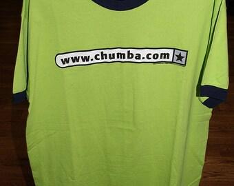 Vintage Chumbawamba Concert Tour Ringer T-shirt 1997 XL