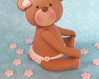 Fondant Baby Teddy Bear with diaper