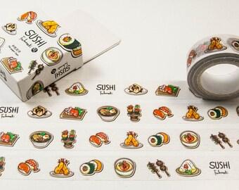 Masking washing Tape-sushi/Filoxafing DIY scrapbooking deco tape