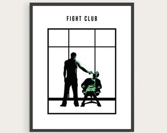 Fight Club, Tyler Durden, Minimal Movie Poster.