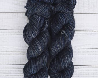 Hand Dyed Yarn | Calin Bulky Base | 100g Bulky Weight | Midnight