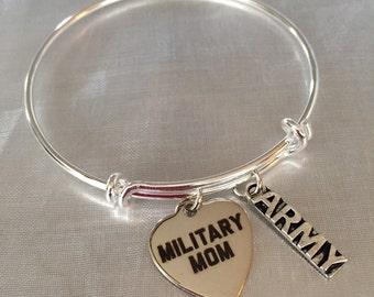 Army-Military Mom Bangle bracelet