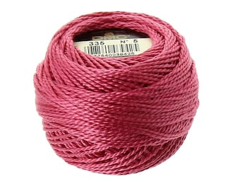 DMC 335 Perle Cotton Thread | Size 5 | Pink Rose