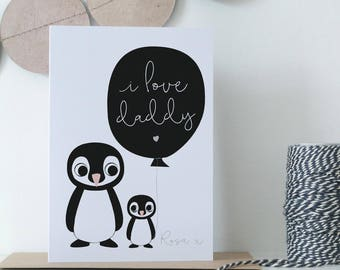 Father's Day 'I love Daddy' Personalised Card