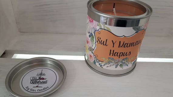 Sul Y Mamau Hapus candle.  Vegan candle. Welsh candle.  Soy wax candle.  Mothers Day.  Handmade in Wales, UK