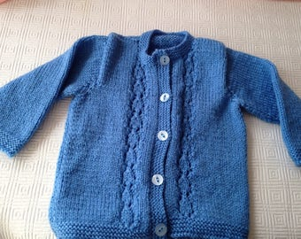 Button through cardigan for 3-6 month baby