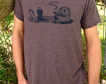 Gift for Men, Gift, Funny Tees Men, Graphic Tee, Animal T Shirt, Animal Graphic Tee, Coffee Shirt, Funny Animal Tee, Coffee Tee, Otter Shirt