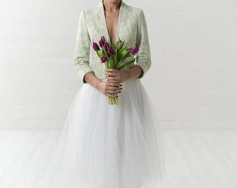 Bridal cardigan   green wedding   Bridal bolero   spring jacket   wedding jacket   bridal jacket   romantic wedding   simple jacket