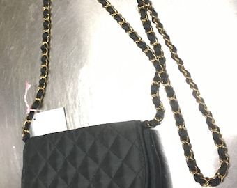 1960s quilted evening crossbody bag (free US shipping)