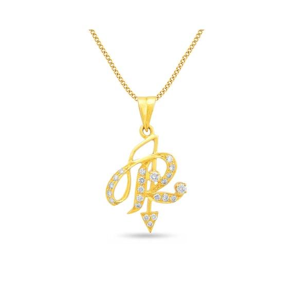 Diamond initial pendant diamond letter r pendant aloadofball Choice Image