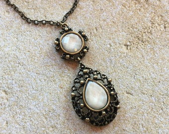 Sparkling Rhinestone Pendant Necklace, Pendant Necklace, Jewelry, Rhinestone Pendant, Vintage Look, Gift For Her