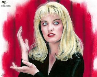 "Print 8x10"" - Laura Palmer - Sheryl Lee Twin Peaks David Lynch Dark Art Horror TV 90s Pop Art Lowbrow Art Creepy Angent Cooper Surreal"