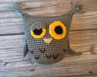 Harold the Owl plushie handmade crochet  || Ready to ship