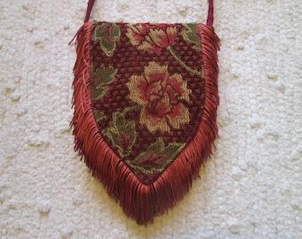 Small Spring Boho Gypsy Hippie Fringe Cross Body Cell Phone Bag Bag