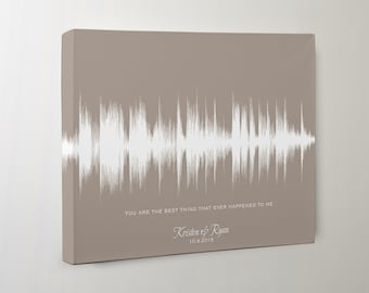2nd Anniversary Gifts for Women, Cotton Anniversary Gift for Her, Wedding Song Canvas, Second Anniversary Gift for Her, Sound Wave Art