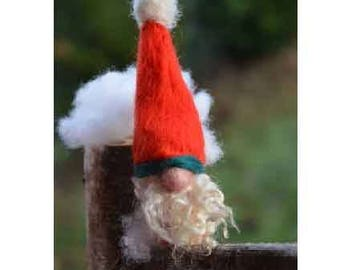 Red Hat GNOME, felted wool Merino, gift it her child, waldorf, miniature decoration, hygge room Swedish tomte