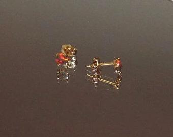 Opal Earrings, Opal Studs, Mexican Opals, Multicolored Opals, Fire Opals, Stud Earrings, Opal Jewelry