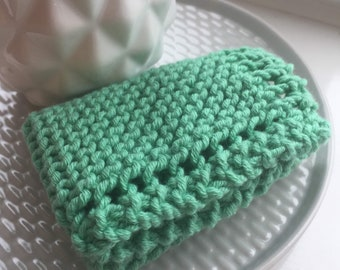 Reusable Surface Cleaning Cloths, Dish Washing Wipes, Knitted Cotton Scrubbies, Eco Friendly Cleaning Sponge