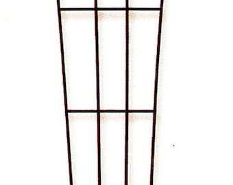 "Fan Pot Trellis - 24"" - Black Wrought Iron - #72223 - Use Indoors or Out"