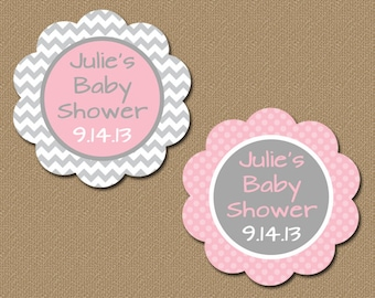 Baby shower thank you tags girl baby shower cucpake toppers personalized baby shower party favor tags printable pink gray chevron tags diy baby shower gift tag template girl baby shower tags bb1 solutioingenieria Image collections