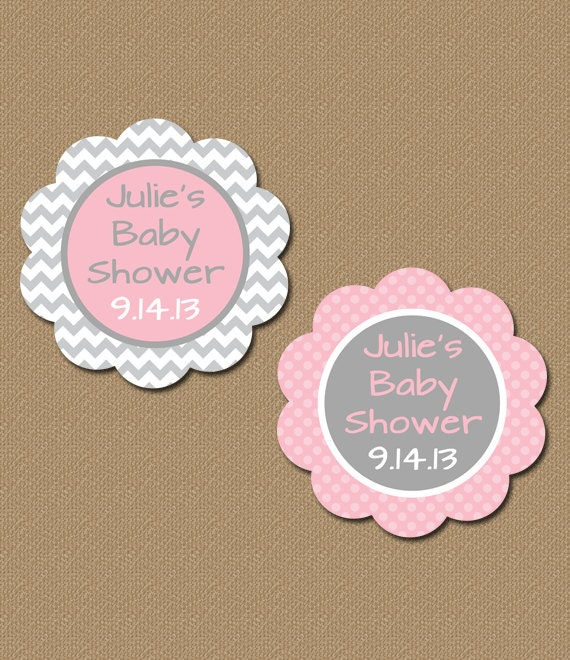 Lively image with printable baby shower favor tags