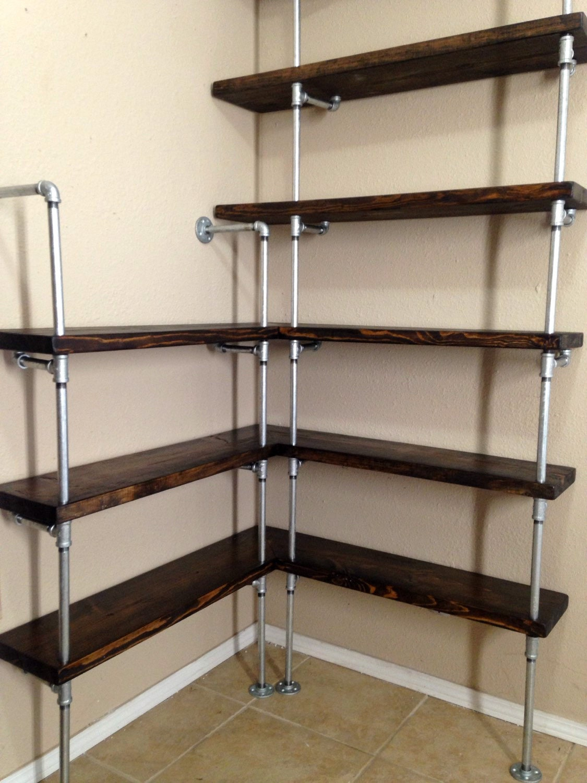 zoom Corner shelving unit Corner shelf Pipe